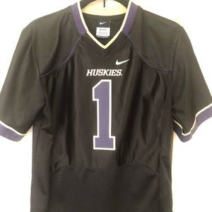 Black UW Football Jersey